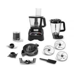 Moulinex Double Force Food Processor, 1000 Watt, Black - FP8268EG