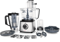 Modex Food Processor, 1000 Watt, Silver/Black - FP960
