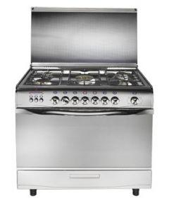 Universal Grand Gas Cooker, 5 Burners, Silver- 2508