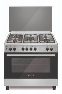 Ecomatic Gas Cooker 5 Burners, Stainless Steel- FS9104M