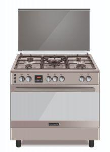 Ecomatic Gas Cooker 5 Burners, Stainless Steel- FS9304MDC