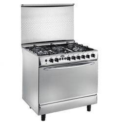 Universal Grand Rosa Freestanding Gas Cooker, 5 Burners, Stainless Steel, 90 cm