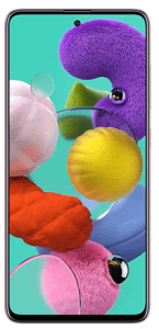 Samsung Galaxy A51, 128GB, 4G LTE - Prism Crush Pink