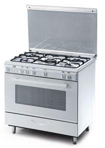Kiriazi Bombie Freestanding Gas Cooker, 5 Burners, Stainless Steel, 90 cm - 9604\1F