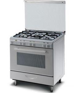 Kiriazi Freestanding Gas Cooker, 5 Burners, 80 cm, Silver - SM8600