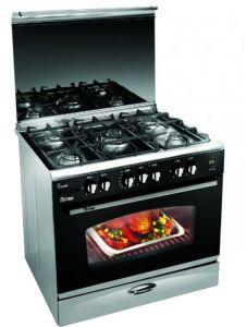 Uniontech 5 Burners Gas Cooker , Stainless Steel, 80 cm - C6080S-NC-511-IDSC