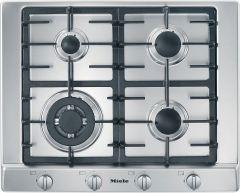 Miele 4 Burners Built-In Gas Cooktop, Stainless Steel, 60 cm - KM-2012G