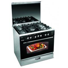 Uniontech Gas Cooker 90 cm, Top/Bottom Heat, 5 Cooking Zones