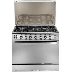 Universal Elegant Freestanding Cooker, 5 Burners, Stainless Steel, 90 cm - 9605Y