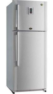 Kiriazi Freestanding Digital Refrigerator, No Frost, 2 Doors, 425 Liters, Stainless Steel - KHN425L
