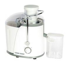 Black + Decker Juice Extractor, 400 Watt, White - JE400