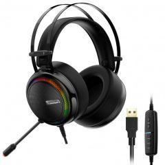 Tronsmart Glary Gaming Over-Ear Headset, with 7.1 Virtual Sound, Black