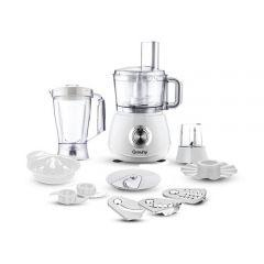 Grouhy Multi Function Food Processor, 1000 Watt, White - GFP1040W