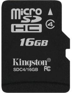 Kingston microSDHC Class 4 Memory Card, 16GB - SDC4/16GBSP