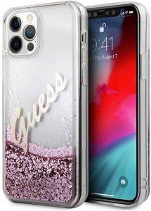 Guess Back Cover for Apple iPhone 12 Pro Max, Pink - GUHCP12LGLVSPI