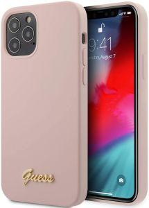 Guess Back Cover for Apple iPhone 12 Pro Max, Pink - GUHCP12LLSLMGLP