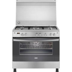 Zanussi Freestanding Digital Gas Cooker, 5 Burners, Stainless Steel, 90 cm - ZCG94396X