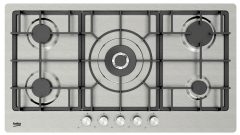Beko Built-In Gas Hob, 5 Burners,  Silver - HIMW 95226 SXEL