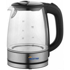 Home Glass Kettle, 1.7 Liter, Silver - K 921