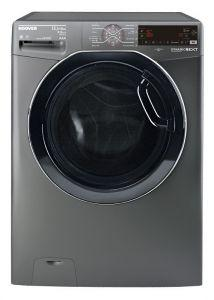 Hoover Front Load Automatic Washing Machine With Dryer, 13.5 KG, Inverter Motor, Silver- WDWOT4358AHFREGY