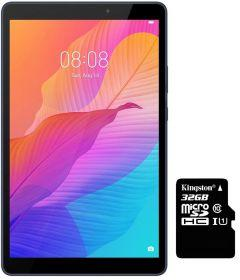 Huawei MatePad T8 Tablet, 8 Inch, 16GB, 4G LTE - Blue with Kingston Micro SD Card Class 10 G2 - 32GB