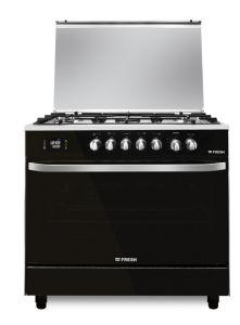 Fresh Hummer Gas Cooker, 5 Burners, Stainless Steel, 90 cm - ST6372