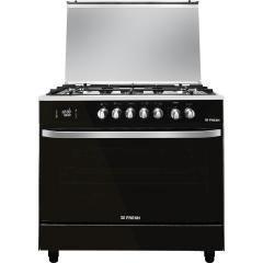 Fresh Hummer Freestanding Gas Cooker, 5 Burners, Black
