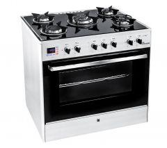 Unionaire 5 Burners i-Chef Smart Gas Cooker, Stainless Steel, 80 cm - C6080GS