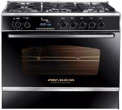 i-Cook Plus Gas Cooker 5 Burners, Silver- PRM6090SS-DC-511-IDSC