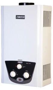 Zanussi Digital Gas Water Heater, 10 Liters, White - ZYG10122WB