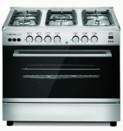 Royal Crystal Cast Freestanding Digital Gas Cooker, 5 Burners, Stainless Steel - 2010255
