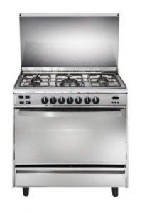 Universal Freestanding Infinity Gas Cooker, 5 Burners, Stainless Steel, 80 cm - 8505IF