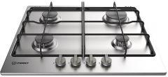 Indesit Built-in Gas Hob, 4 Burners, Silver - THP 642 IX/I