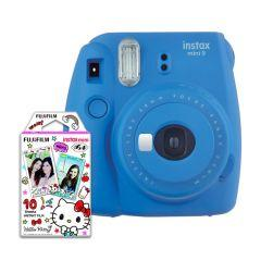 Instax Mini 9 Instant Camera With 10 Sheets Hello Kitty Film - Blue