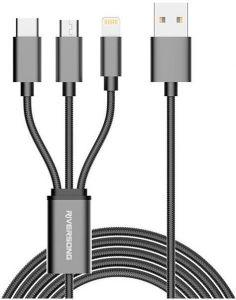 Riversong USB Cable For Smart Phones, 1M, Gray- C51-GREY