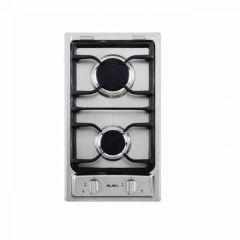 Elba Gas Built-in Hob, 2 Burners, Silver- E35-210X