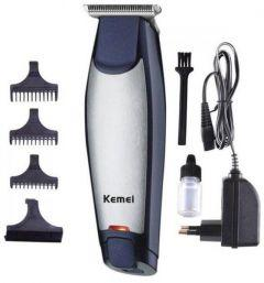 Kemei Hair Clipper and Trimmer, Black/Silver - KM-5021