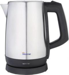 Home Electric Water Kettle, 1.7 Litres, 1850 Watt, Silver/Black - K928