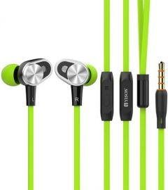 Yison Wired In-Ear Earphones with Microphone, Green - CX620