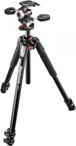Manfrotto 3-Section Tripod with Head, Black - MK055XPRO3-3W