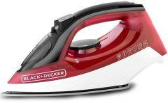 Black + Decker Steam Iron, 1600 Watt, Red - X1550