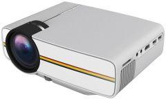 Portable LED Projector, 1920×1080 Resolution, White – YG400