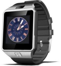 Smart Watch For Android And iOS With Rubber Band, Black- MW02