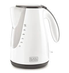 Black + Decker Kettle, 1.7 Litres, 2000 Watt, White - JC72