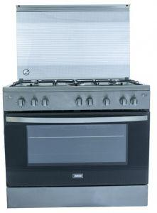 Zanussi 5 Burners Gas Cooker, Stainless Steel - ZCG91246XA