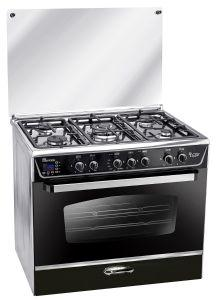 Unionaire Freestanding i-Steel Digital Gas Cooker, 5 Burners, Stainless Steel, 90 cm - C6090FC511-I