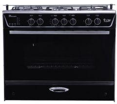 Unionaire 5 Burners i-Steel Gas Cooker, Stainless Steel, 90 cm - C6090SSGC