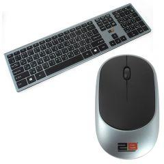 2B Business Wireless Keyboard and Mouse, Gray And Black - KB306