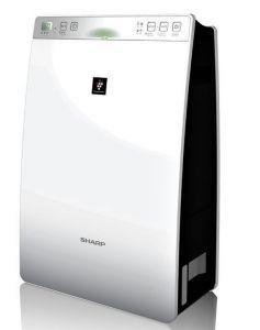 Sharp Air Purifier with Humidity , Plasma Cluster and HEPA Filter, White - KC-F30SA-W