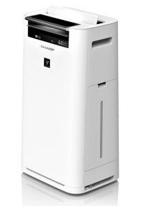 Sharp Air Purifier with Humidity , Plasma Cluster and HEPA Filter, White - KC-G40SA-W